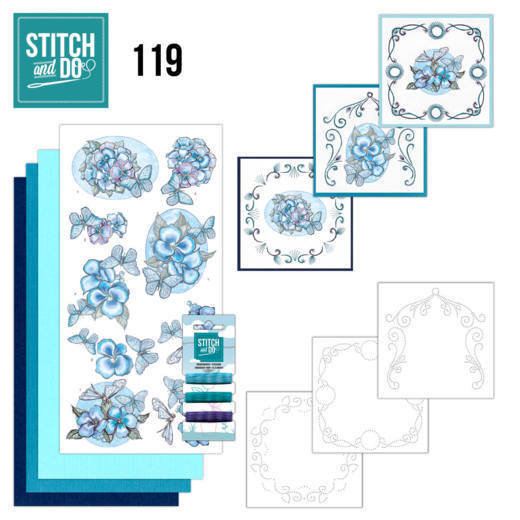 Stitch and Do 119 Blue Butterflies