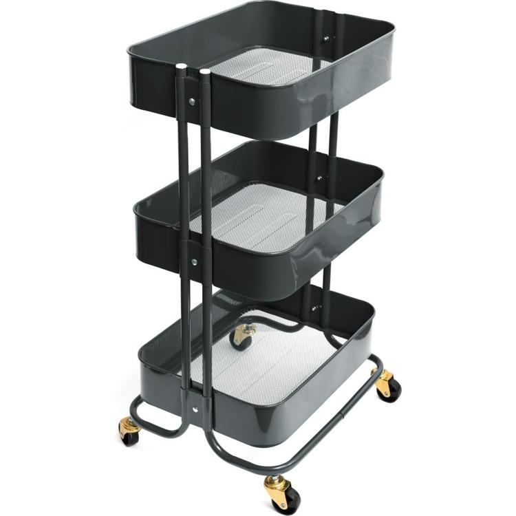 We R Memory Keepers - A La Cart Storage Cart - Burnt Ash