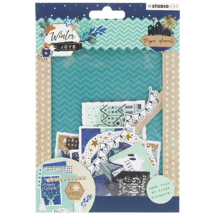 Studio Light - Winter Joys - Die Cut Paper Set - Nr 658