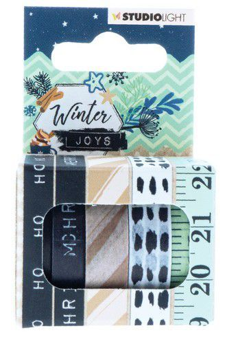 Studio Light - Winter Joys - Washi Tape 5 rollen - Nr 06