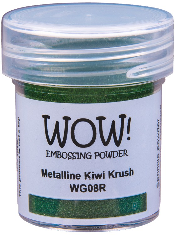 WOW embossingpoeder - Metalline Kiwi Krush