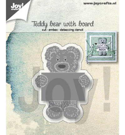 Joy! Crafts - Cutting Stencil - Teddy bear with board