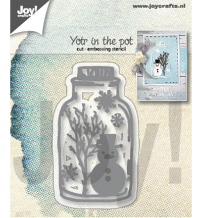 Joy! Crafts - Cutting Stencil - Sneeuwpop in pot