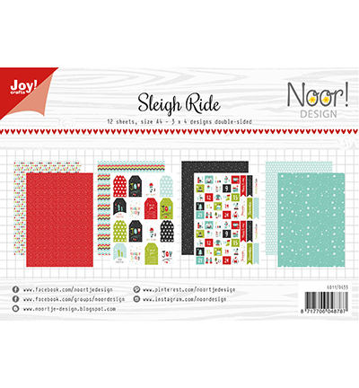 Noor! Design - Paperpad A4 - Sleigh Ride