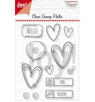 Noor! Design - Clearstamp -Hello