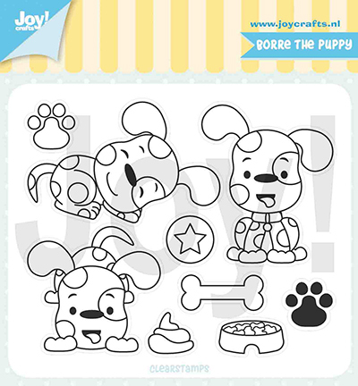 Jocelijne Design - Clearstamp - Borre de Puppy