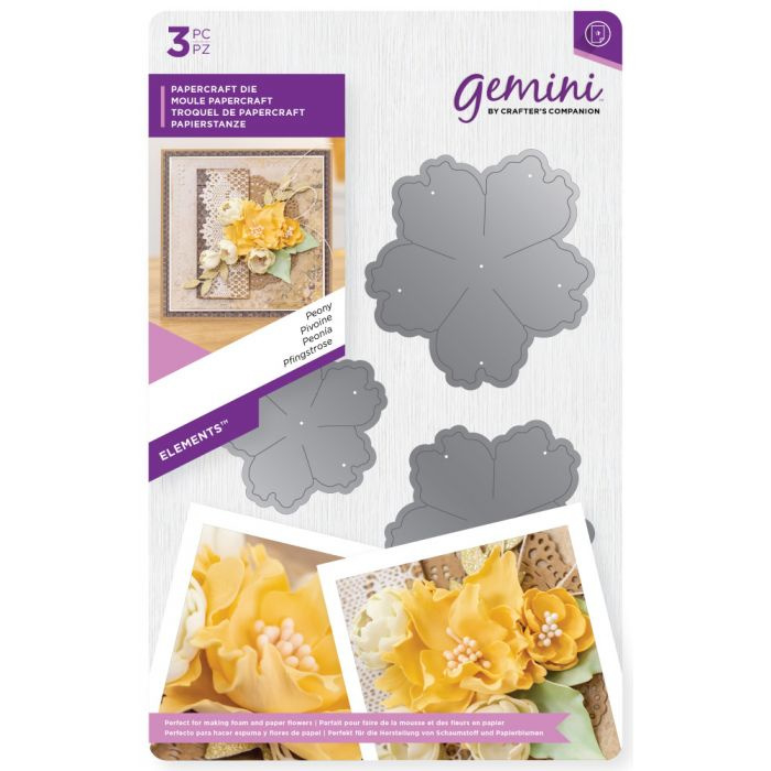 Gemini - Flower Foam Concept - Cutting Die Elements - Peony
