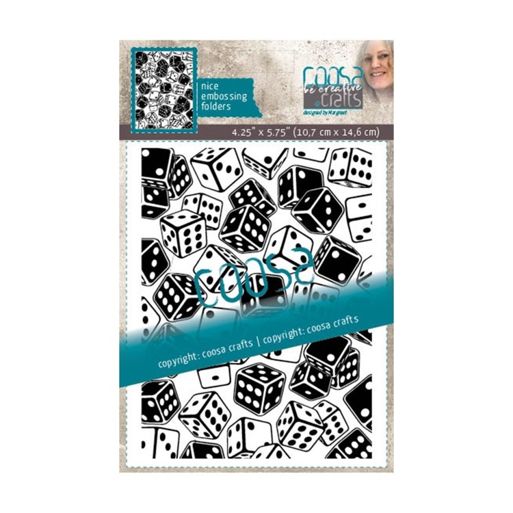 Coosa Crafts- Embossing Folder - Rolling Dice
