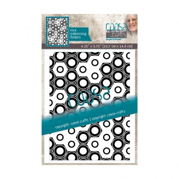 Coosa Crafts- Embossing Folder - Totally Nuts