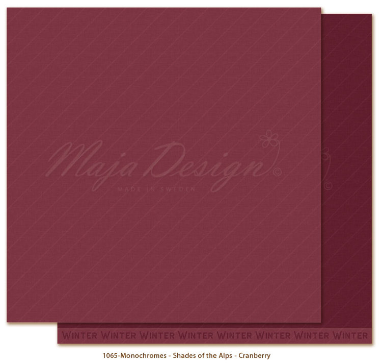 Maja Design - Monochromes - Shades of the Alps - Cranberry