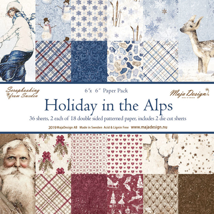 Maja Design - Holiday in the Alps - Paperpad 15,2 x 15,2 cm