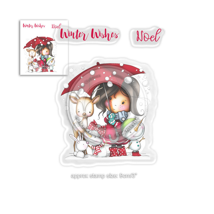 Clearstamp Polka Doodles - Winnie Winter - Winter Wishes