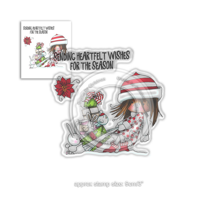 Clearstamp Polka Doodles - Winnie Winter - Heartfelt Wishes