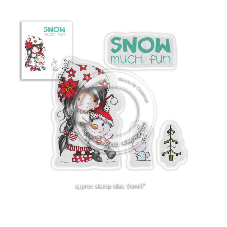 Clearstamp Polka Doodles - Winnie Winter - Snow Much Fun