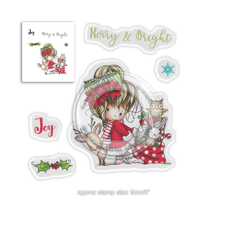 Clearstamp Polka Doodles - Winnie Winter - Merry & Bright