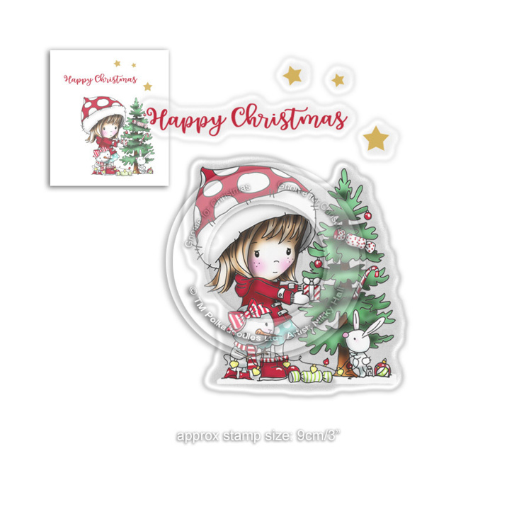 Clearstamp Polka Doodles - Winnie Winter - O Christmas Tree