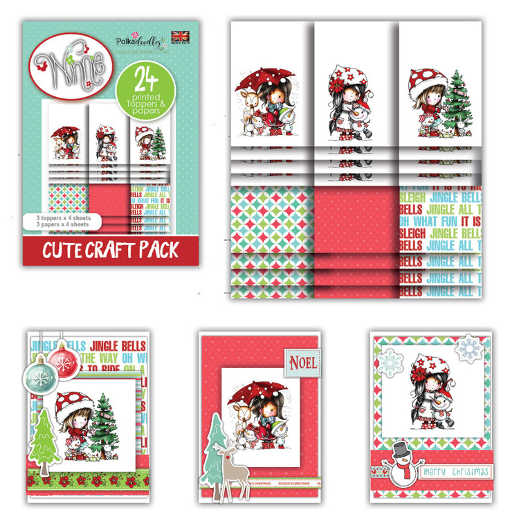 Polkadoodles - Winnie Winter - Friends - Cute Craft Topper Pack