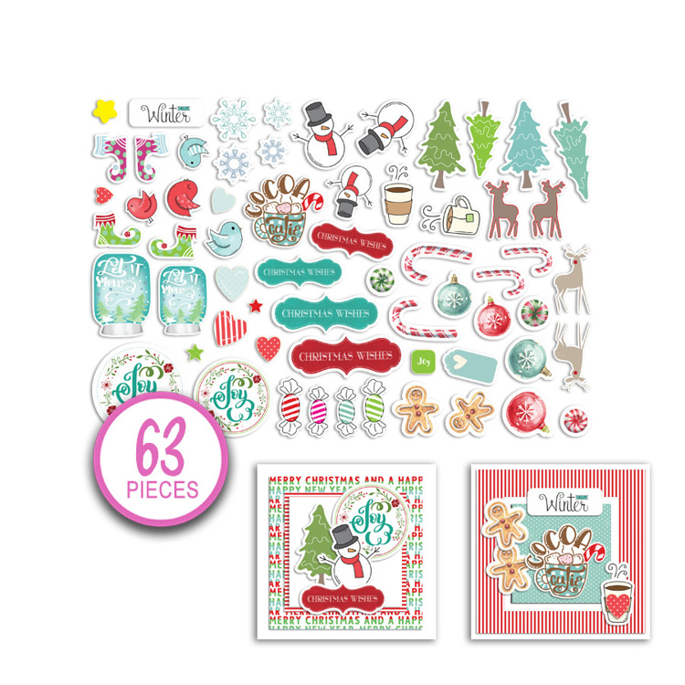 Polkadoodles - Jumbles - Christmas Cheer Ephemera Pack (63 st)