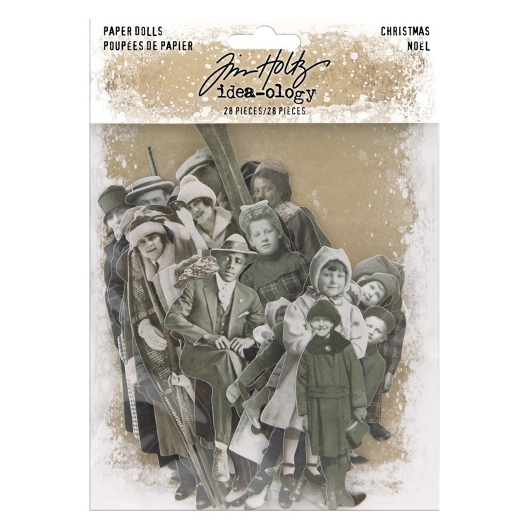 Tim Holtz - Idea-ology - Paper Dolls Christmas (28pcs)