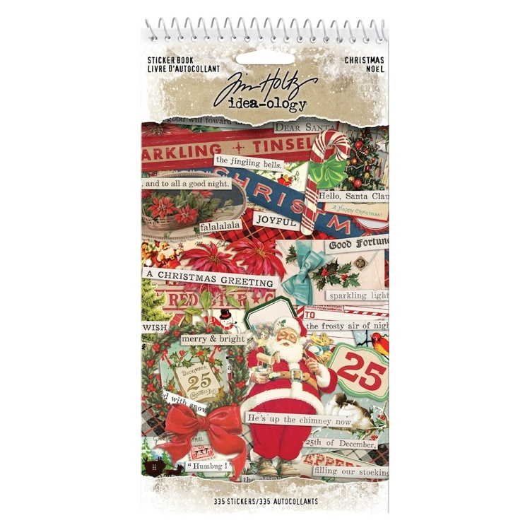 Tim Holtz - Idea-ology - Sticker Book Christmas (355 pieces)