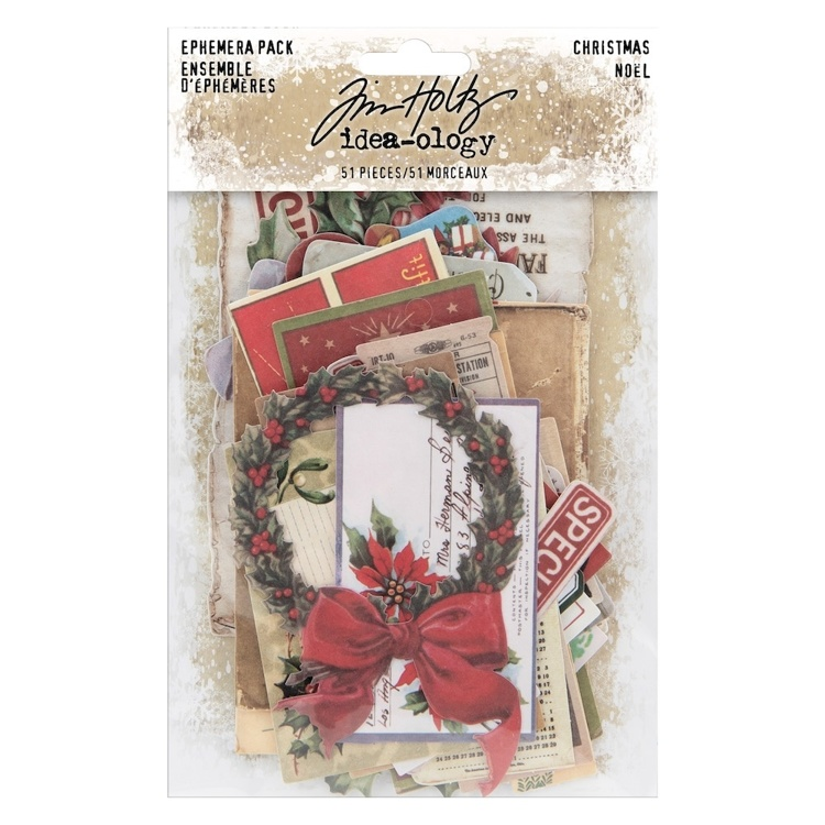 Tim Holtz - Idea-ology - Ephemera Christmas (51 stuks)