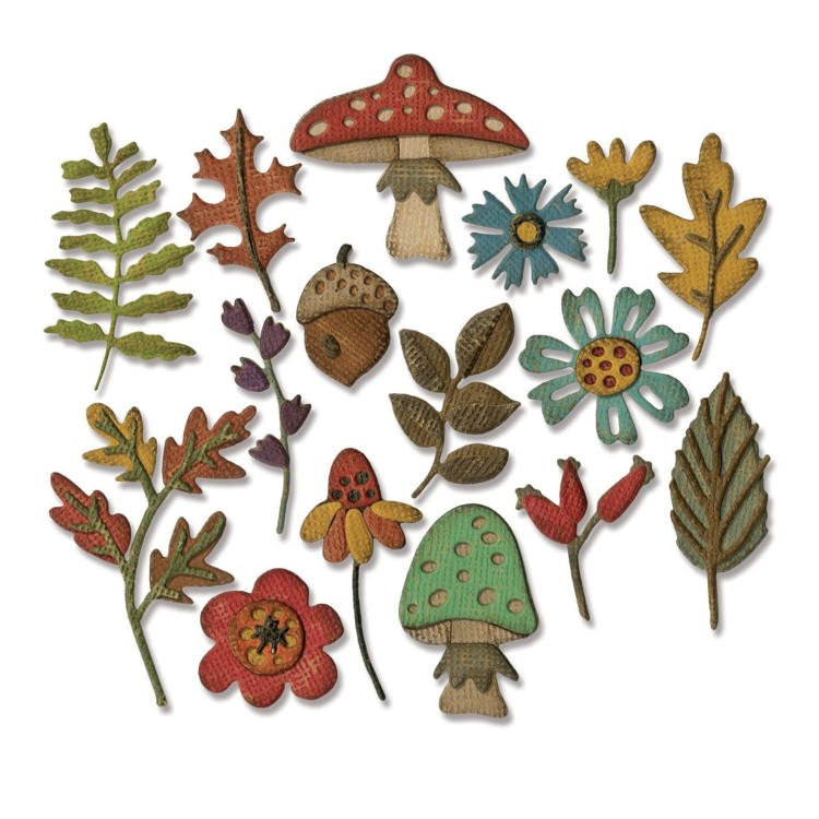 Sizzix - Thinlits Die Set - Funky Foliage