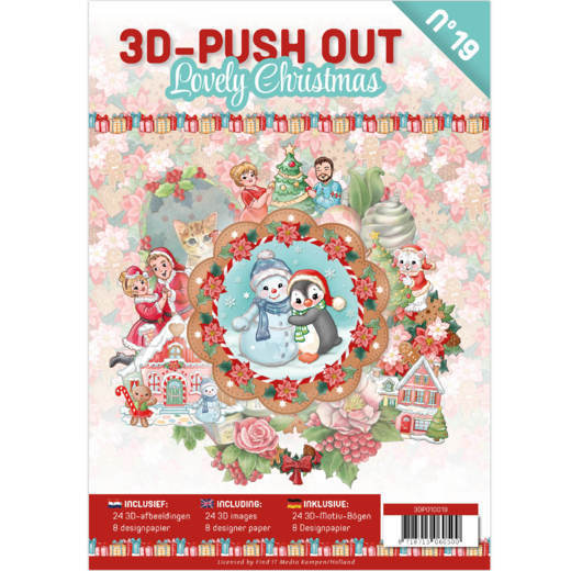 3D Push Out Book - Lovely Christmas -  nummer 19