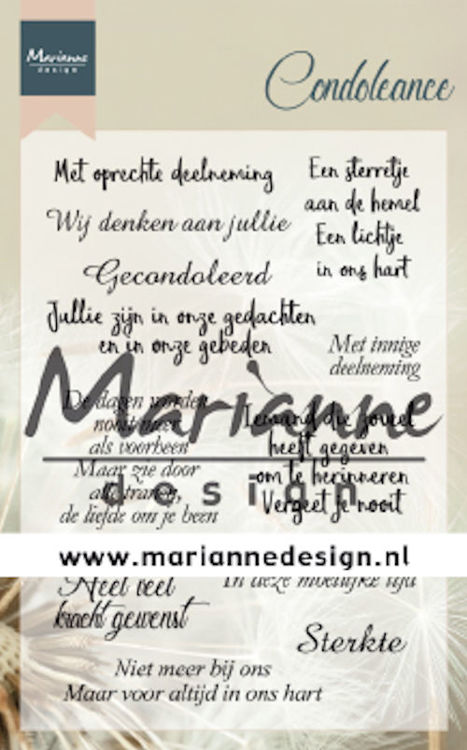 Marianne Design - Clearstamp - Condoleance