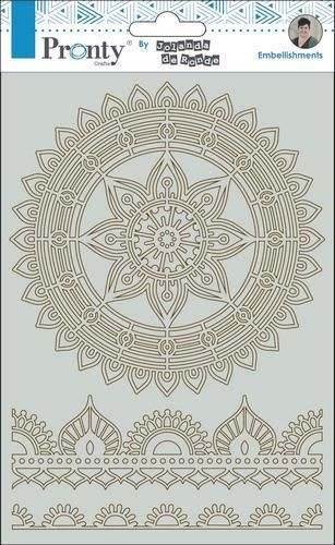 Pronty by Jolanda - Chipboard A5 - Mandala & Borders