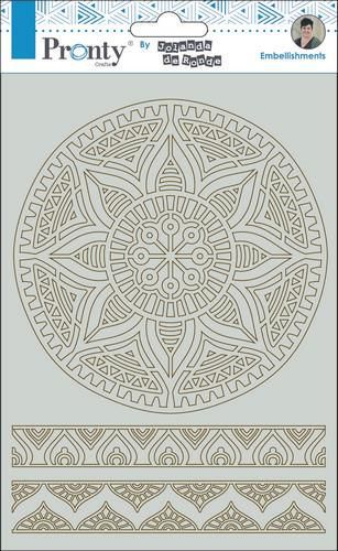 Pronty by Jolanda - Chipboard A5 - Mandala & borders 1