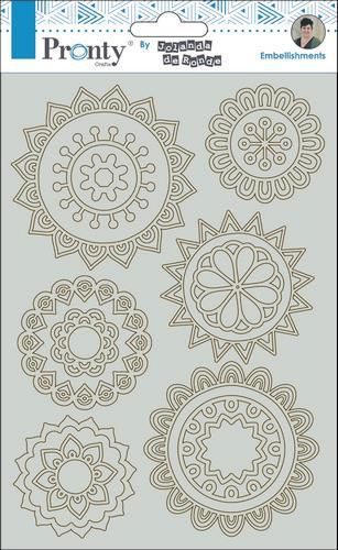 Pronty by Jolanda - Chipboard A5 - Mandala mini's