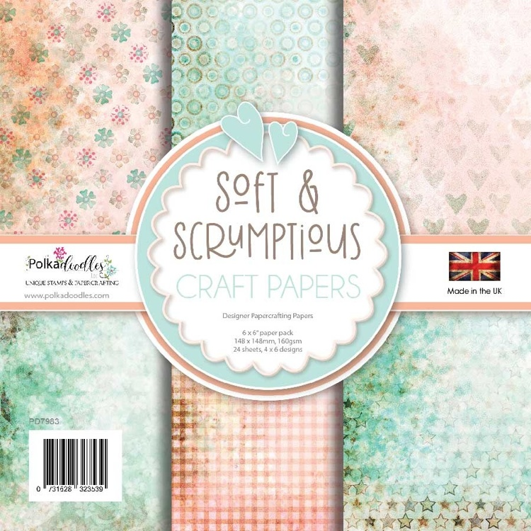 Polkadoodles - Paper Pack -Soft & Scrumptious - 6x6 Inch
