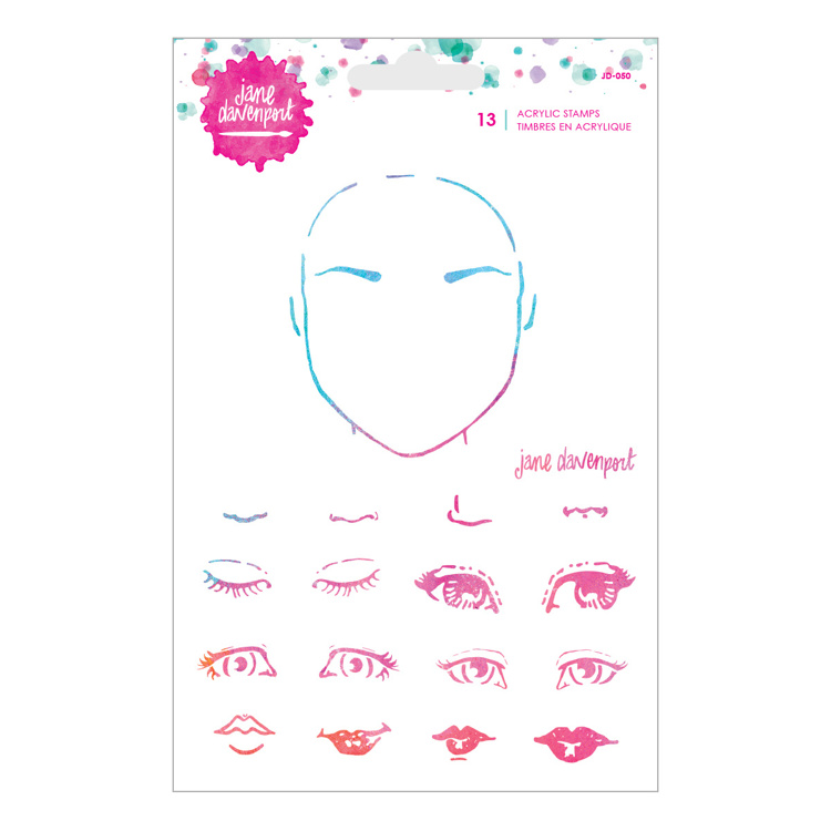Clearstamp Jane Davenport -  Spellbinders - Face Set