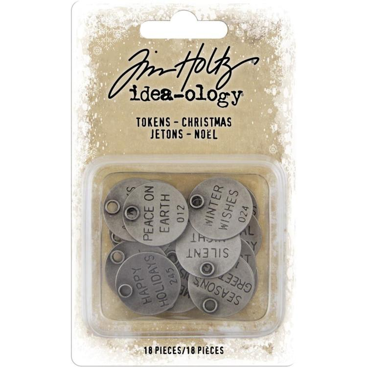 Tim Holtz - Idea-Ology - Metal Typed Tokens (18/Pkg)