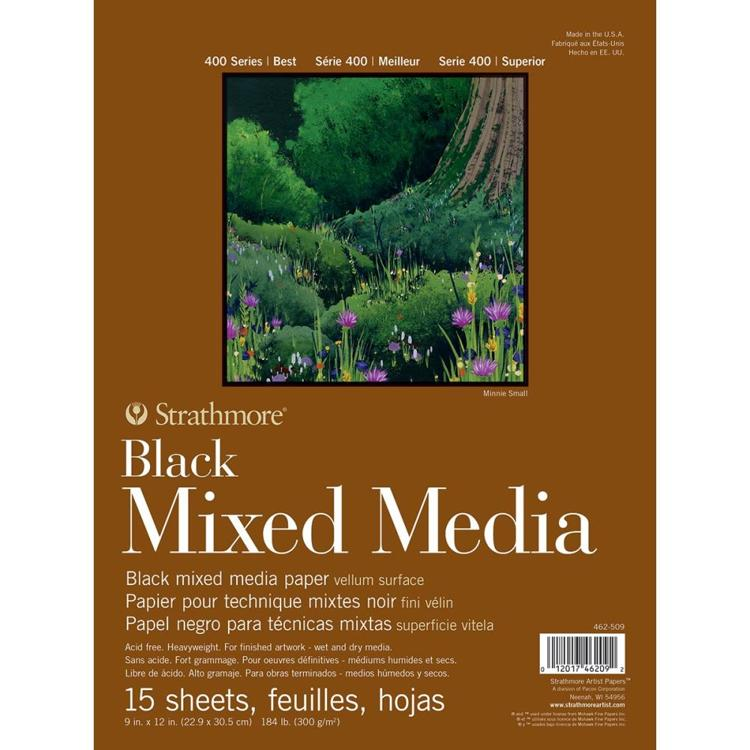 "Strathmore - 400 Series - Mixed Media Pad - Black (9""X12"")"