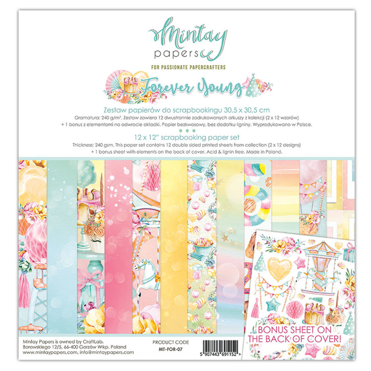 PRE-ORDER 2 - Paperpad Mintay - Forever Young 30,5 x 30,5 cm - MT-FOR-07