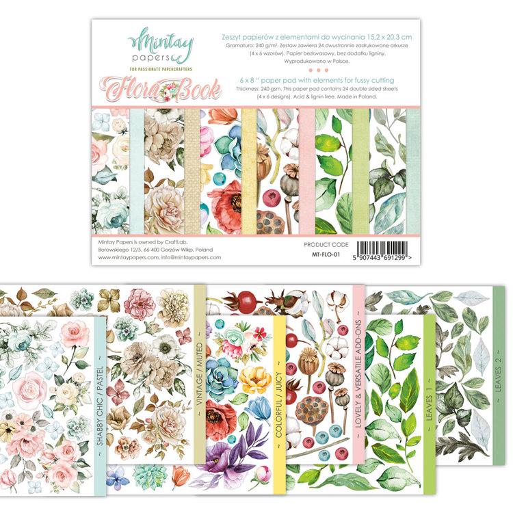 Paperpad Mintay - Flora Book - 15.2 x 20.3 cm - MT-FLO-01