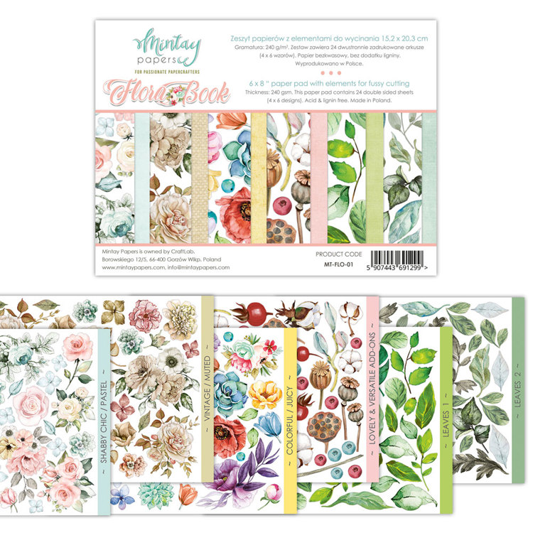 PRE-ORDER 2 - Paperpad Mintay - Flora Book - 15.2 x 20.3 cm - MT-FLO-01