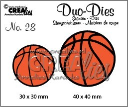 Stansmal - Crealies - Duo Dies - nr 28 - Basketbal