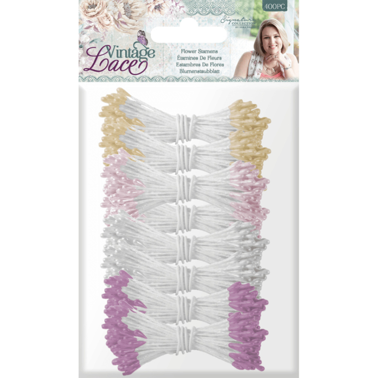 Crafter's Companion - Vintage Lace Collection - Bloemen Meeldraden(400 pcs)