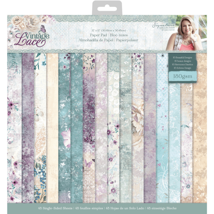 "Crafter's Companion - Vintage Lace Collection - Paperpad 12"" x 12"""