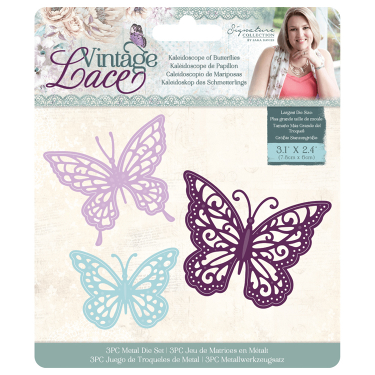 Crafter's Companion - Vintage Lace Collection - Stansmal Kleidoscoop of Butterflies