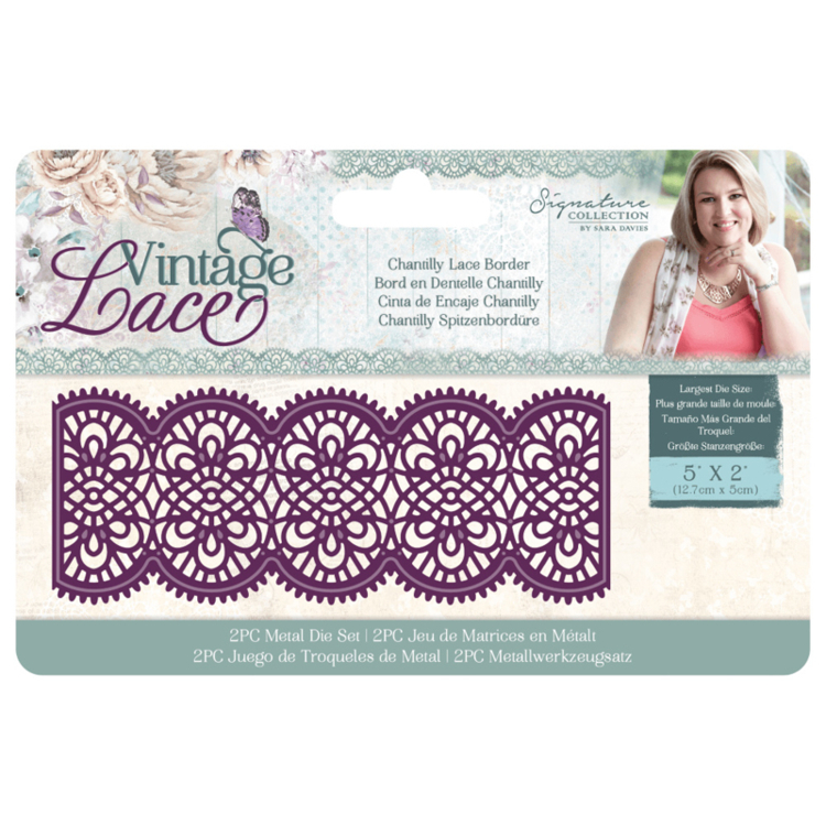 Crafter's Companion - Vintage Lace Collection - Stansmal Chantilly Lace Border