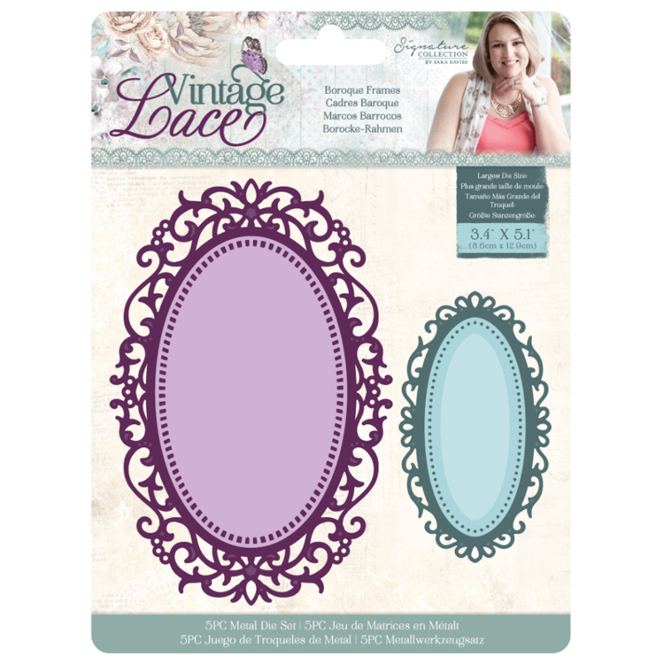 Crafter's Companion - Vintage Lace Collection - Stansmal Baroque Frames