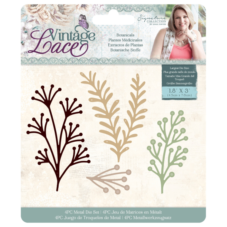 Crafter's Companion - Vintage Lace Collection - Stansmal Botanicals