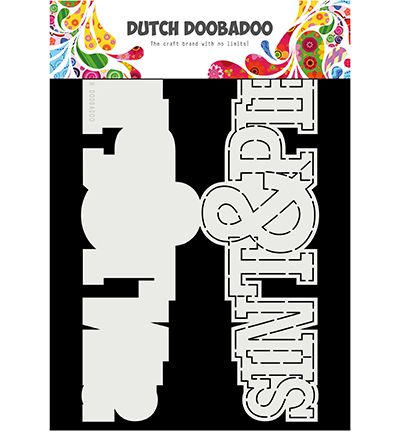 Dutch Doobadoo - Dutch Card Art - Sinterklaas & Piet tekst