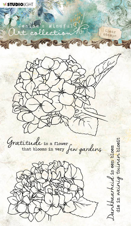 Studio Light - Jenine's Mindful Art Collection - Clearstamp A6 - 07 (Hortensia)