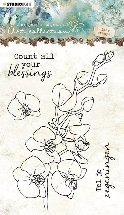 Studio Light - Jenine's Mindful Art Collection - Clearstamp A6 - 08 (Orchidee)