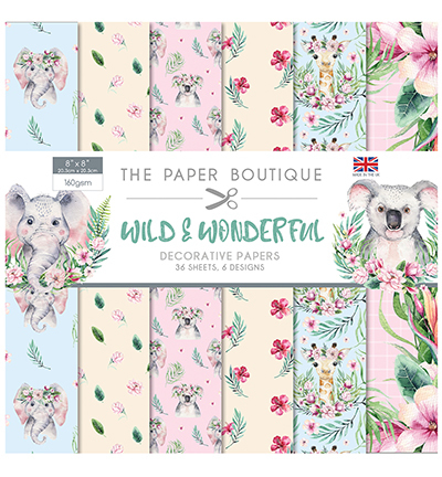 "Creative Expressions - Paperpad 8"" x 8"" (20,5 x 20,5 cm) - Wild & Wonderfull"