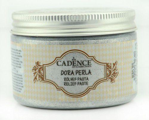 Cadence - Dora Perla Metallic Relief Pasta - Metallic Zilver